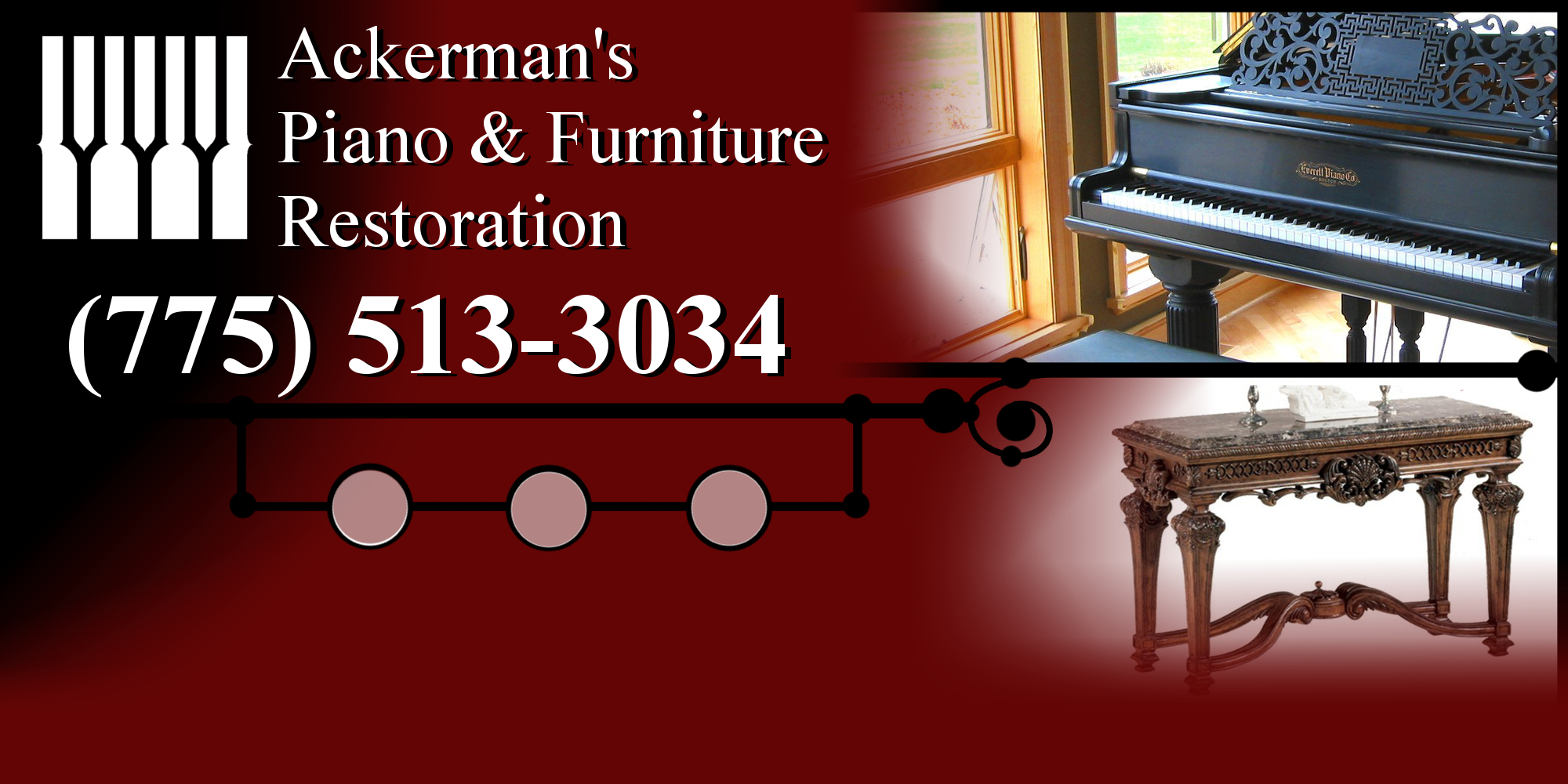 Ackerman's Piano & Furniture Restoration Home Page - 702-556-9940